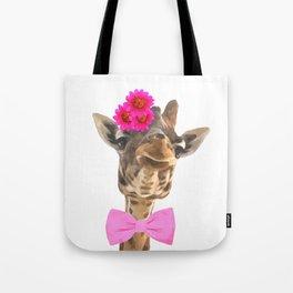 Giraffe funny animal illustration Tote Bag