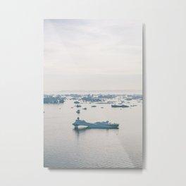disko bay icebergs Metal Print