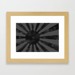 Black Japan Empire Flag Framed Art Print