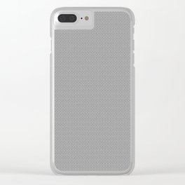 Gray Seigaiha Pattern Clear iPhone Case