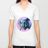 goddess V-neck T-shirts featuring GODDESS by RSRRRCT clothing