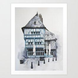 Dinan, Brittany Art Print
