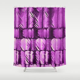 Purple Knits Demand Attention...Sort of Shower Curtain