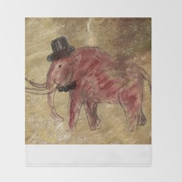 Cave art vintage mamut. Throw Blanket