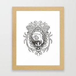 burd skull Framed Art Print