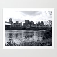 pittsburgh Art Prints featuring Pittsburgh by Joyce E. Wasser