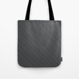 Sharkskin and Black Stripe Tote Bag