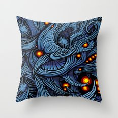 Infection colored Throw Pillow