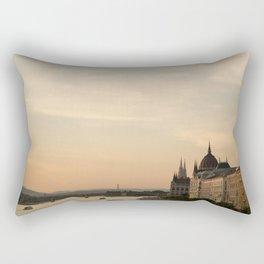 Sun sets over Budapest Rectangular Pillow