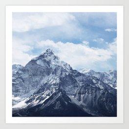 Snowy Mountain Peaks Art Print