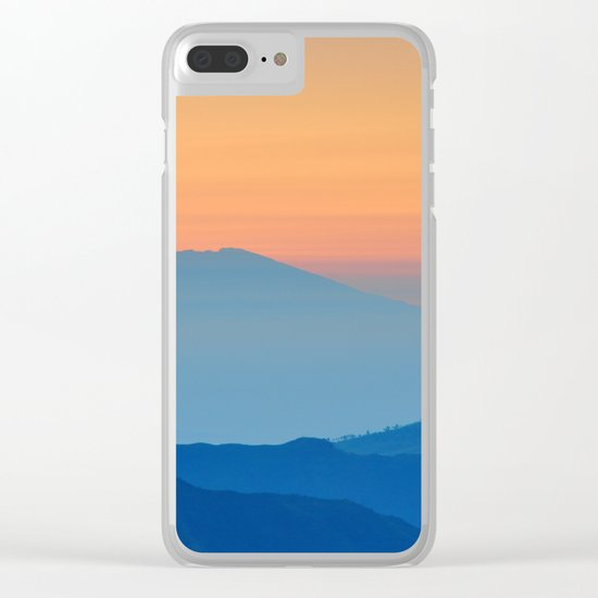 Orange Valley #mountains Clear iPhone Case