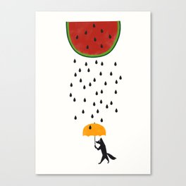Raining Watermelon Canvas Print