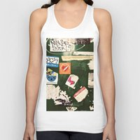 stickers Tank Tops featuring stickers by kazmcart