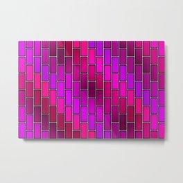 BRICK WALL #2 (Purples, Fuchsias, Violets & Magentas) Metal Print