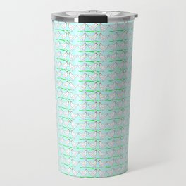 White hen on blue sky Travel Mug