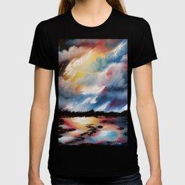 Moody Sunset, Dark Sunset, Abstract Sunset, Seascape, Sunscape, Skyscape T-shirt