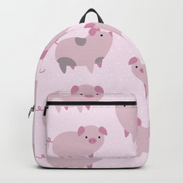 Cute Pink Piglets Pattern Backpack