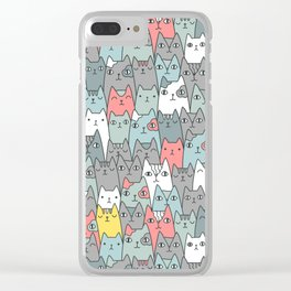 Cats family Clear iPhone Case