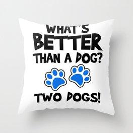 Dog man woman Gassi pun paws Gift Throw Pillow