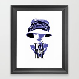 Time After Time Bleu Framed Art Print
