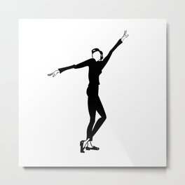 Funny Face 02 • Fashion Illustration    Audrey Hepburn Metal Print