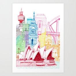 Sydney Towers Art Print