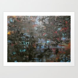 "28°44'12"", W 88°23'13 Art Print"