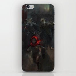 Girl with the red hood iPhone Skin