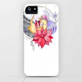 Merry Christmas, Deer iPhone Case