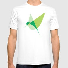 Contours: Hummingbird SMALL Mens Fitted Tee White