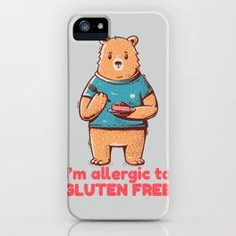 I'm allergic of gluten free iPhone Case