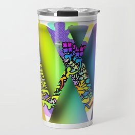 MONOGRAM INITIAL W Travel Mug