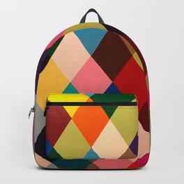 Hard Edge Diamonds Multi Color Backpack