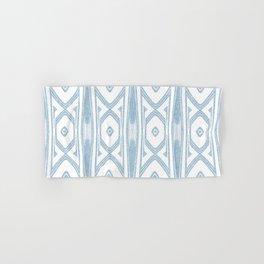 Velvety Tribal Shield Reverse in Pale Blue Hand & Bath Towel