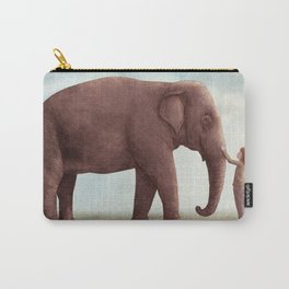 One Amazing Elephant - Back Cover Art Carry-All Pouch
