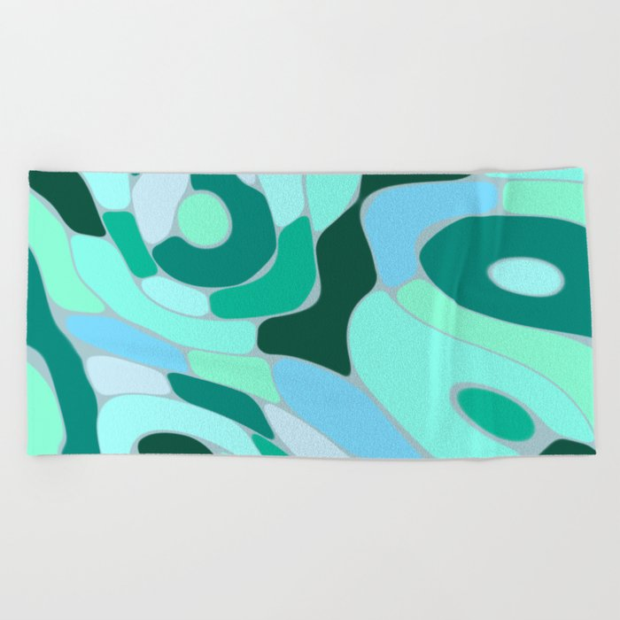 Funky Abstract 2 Beach Towel