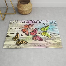 Color Butterfly Rug