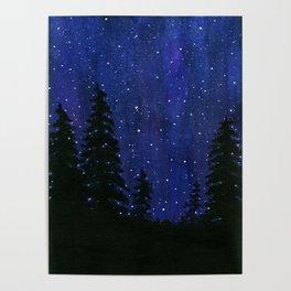 Twinkle, Twinkle, Stars Night Sky Painting Poster