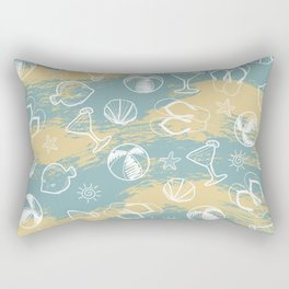 Beachy Summer Rectangular Pillow