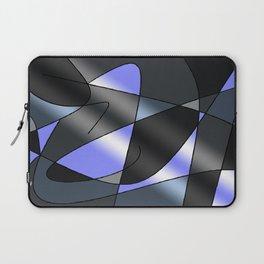 ABSTRACT CURVES #2 (Grays & Light Blue) Laptop Sleeve