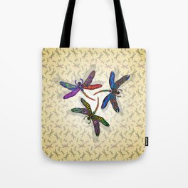 DRAGONFLY CIRCLE 2 Tote Bag