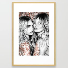 Kate and Cara Framed Art Print