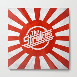 The Strokes Logo Welcome To Japan Metal Print