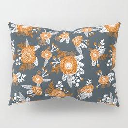 Texas longhorns orange and white university college texan football floral pattern Pillow Sham