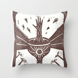 Manifestation (White) Throw Pillow