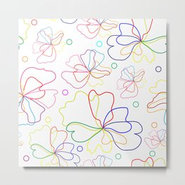 Colorful flower design Metal Print