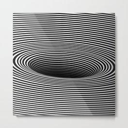 Black Hole Vertigo Metal Print