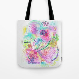 Joyfully pink Tote Bag