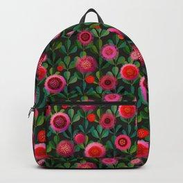 Bright Blooms Hand-Print Floral - Dark Backpack