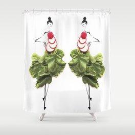 Edible Ensembles: Radish Shower Curtain